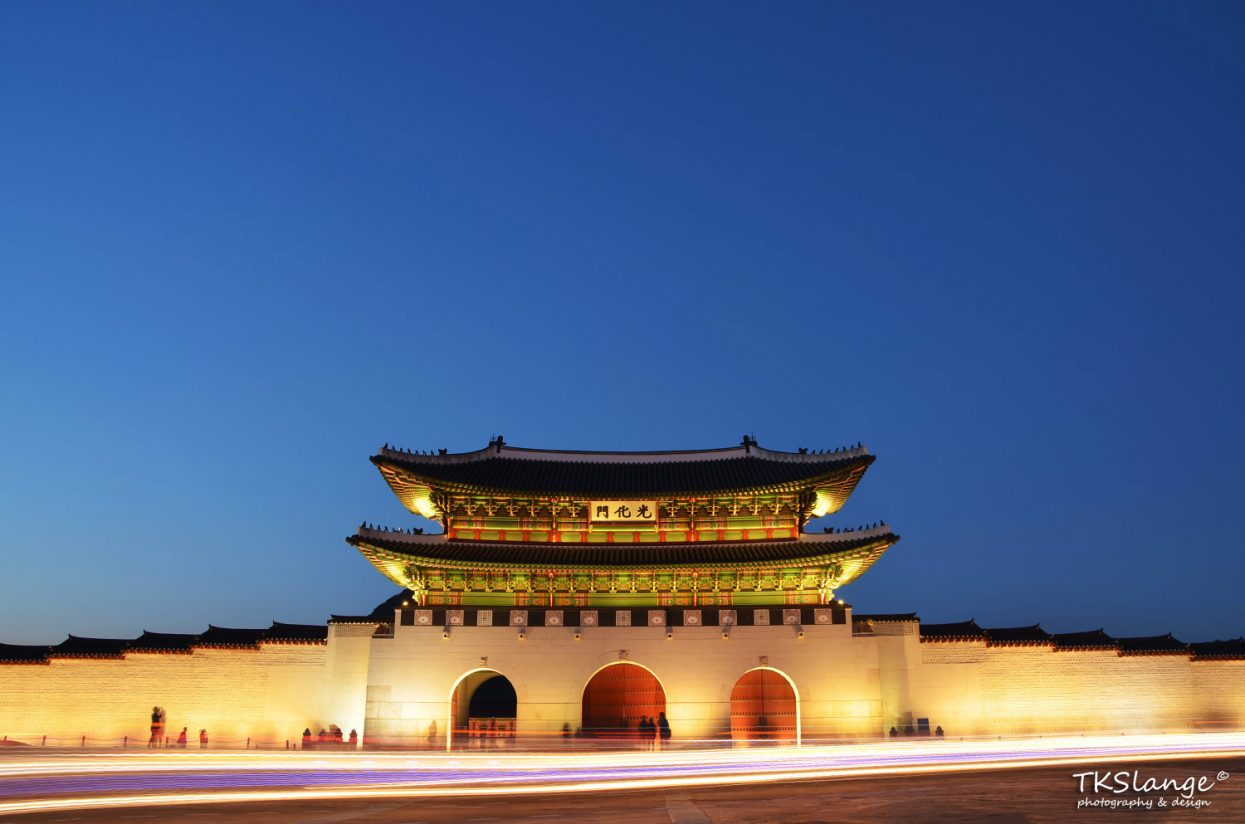 Gwanghwamun, the south entrance gate of the Gyeongbokgung Palace.