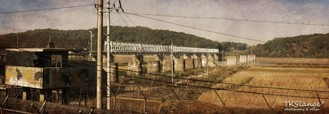 Freedom Bridge seen from behind the civilian border at Imjingak.