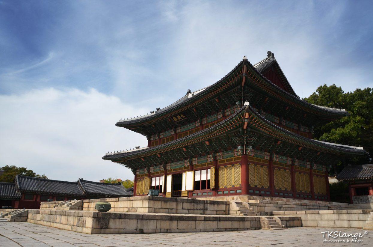 Injeongjeon, the impressive main hall at Changdeokgung Palace.