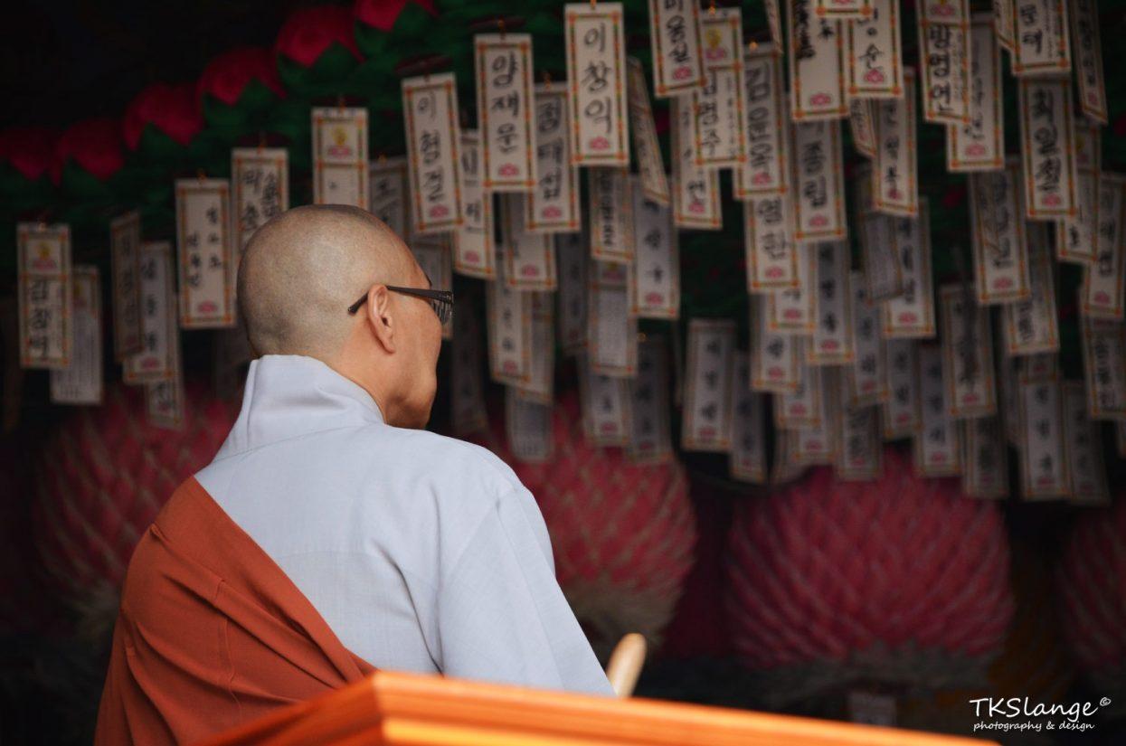 A Buddhist monk at Sinheungsa temple.