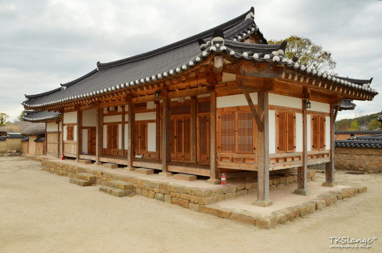 One of the recently renovated recedencies of Hahoe Folk Village.