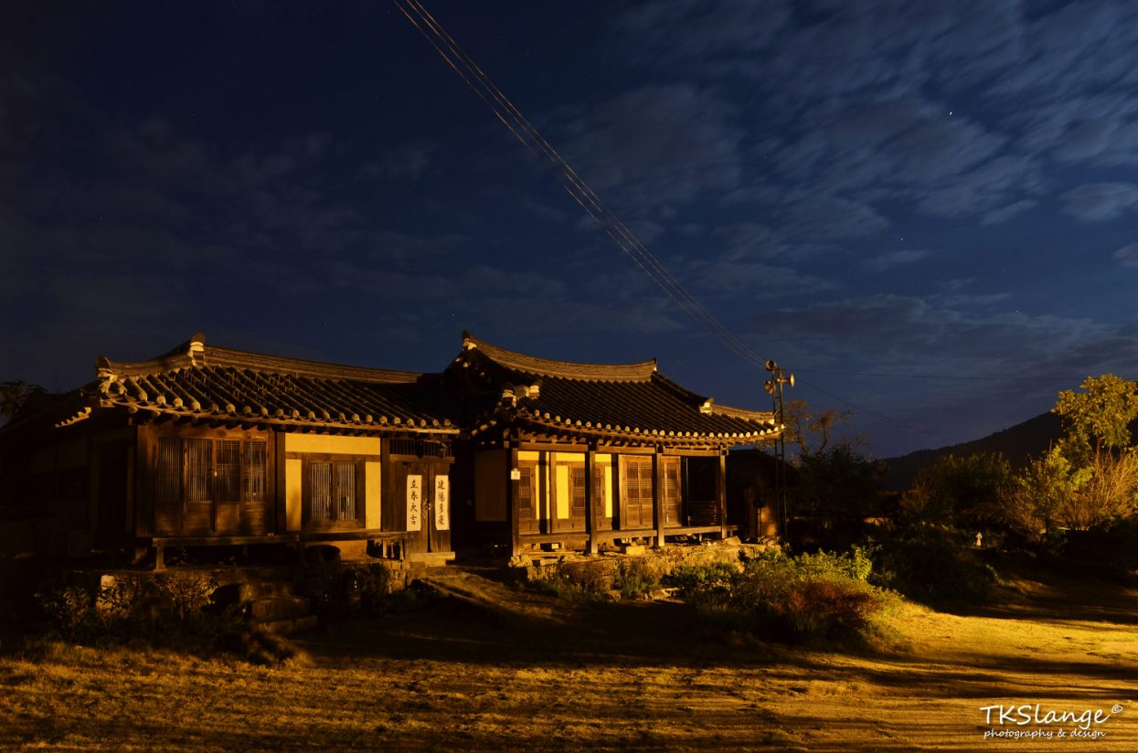 Hahoe residence by night.