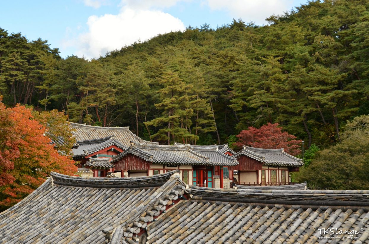 Tiled roofs of Dosan Seowon.