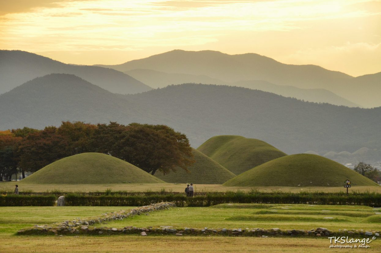 Burrial Mounds at the Wolseong Park.