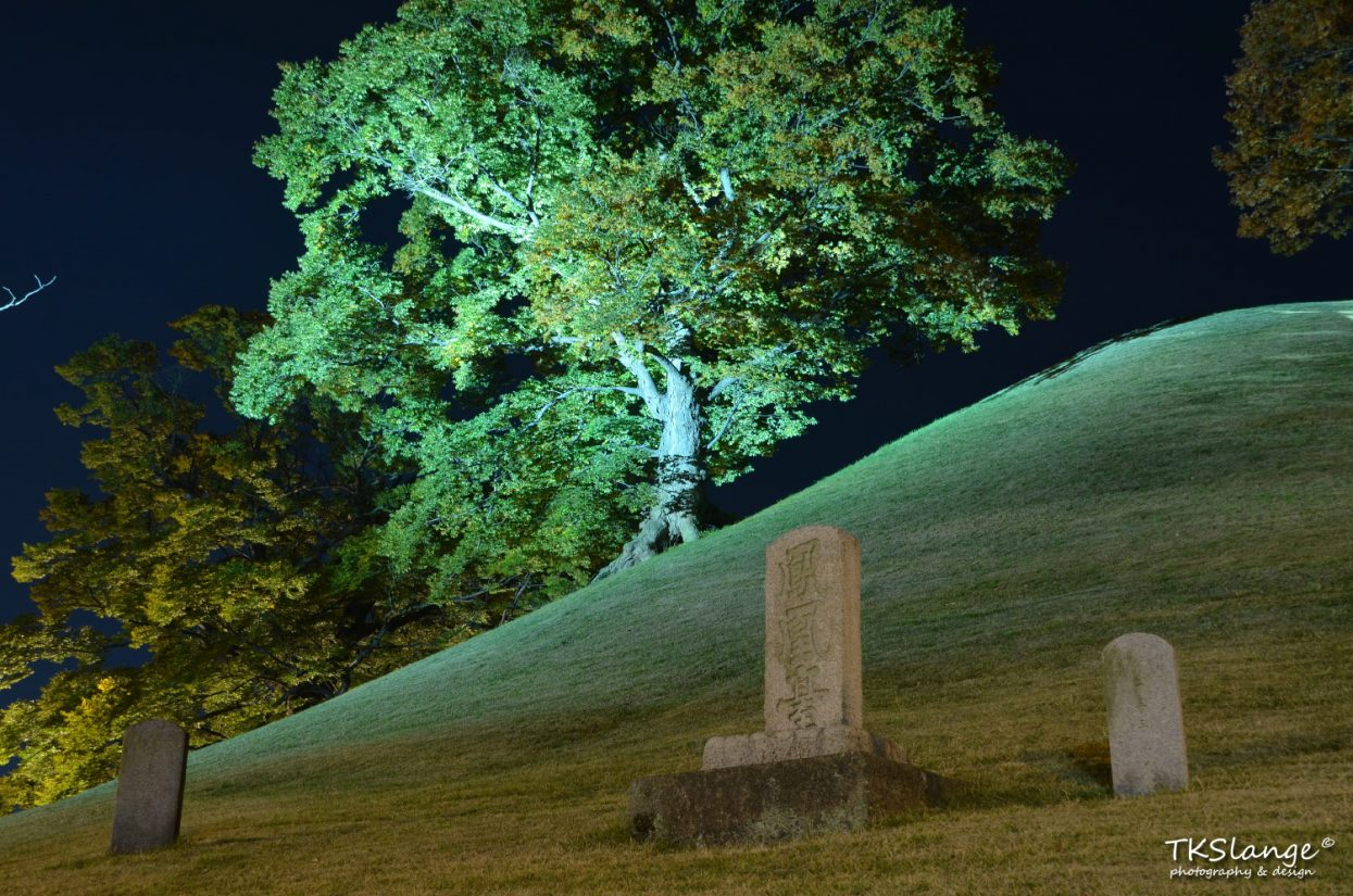 Tombstone at Night at Nodong-ri.