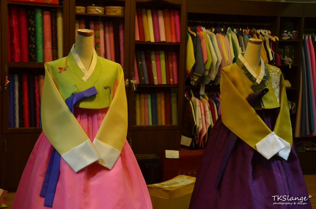 Hanbok traditional clothing store.