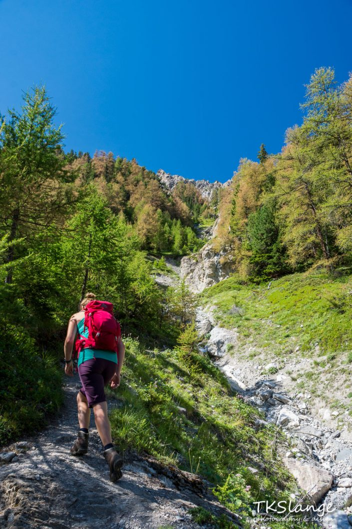Climbing Col de la Scie