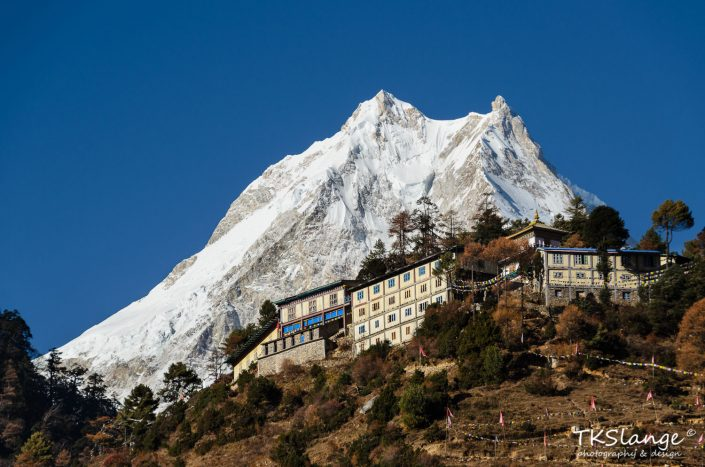 Majestic Manaslu and Ribung Gompa