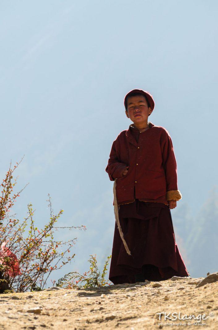 Jonge Monnik bij Ribung Gompa