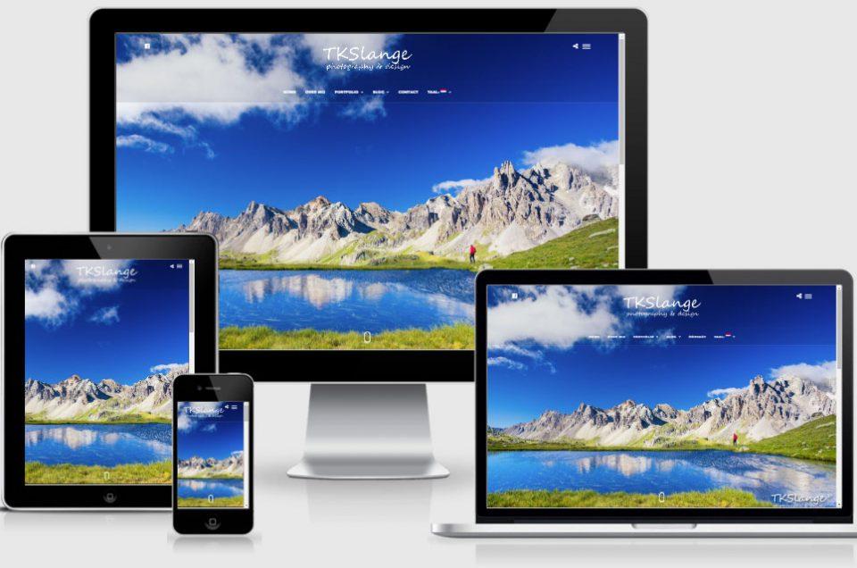 New responsive webpage